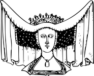 Horned Head-dress Beatrice, Countess of Arundel, 1439