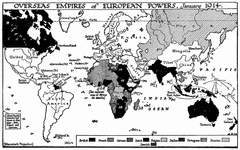 Overseas Empires of European Powers, 1914